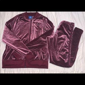Velvet Adidas Set